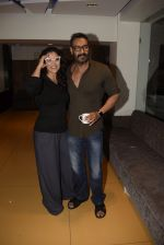 Kajol, Ajay Devgan at Total dhamal screening in sunny sound juhu on 21st Feb 2019 (4)_5c6fb181d02db.jpg