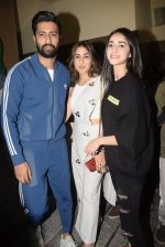 Vicky Kaushal, Sara Ali Khan, Ananya Pandey at the Screening of film Sonchiriya at pvr juhu on 27th Feb 2019 (84)_5c7784d3ac0ce.jpg