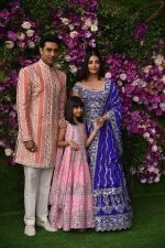 Aishwarya Rai Bachchan, Abhishek Bachchan, Aaradhya Bachchan at Akash Ambani & Shloka Mehta wedding in Jio World Centre bkc on 10th March 2019 (14)_5c8766dd652a0.jpg