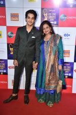 Neelima Azeem, Ishaan Khattar at Zee cine awards red carpet on 19th March 2019