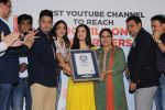 Divya Kumar , Bhushan Kumar has been felicitated with an official certificate from Guinness World Records as T-Series became the first YouTube channel to reach 100 million subscribers on 17th June 2019 (40)_5d0735a227f78.JPG