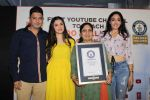 Divya Kumar , Bhushan Kumar has been felicitated with an official certificate from Guinness World Records as T-Series became the first YouTube channel to reach 100 million subscribers on 17th June 2019 (6)_5d07358e004c4.JPG