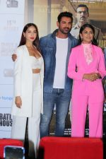 John Abraham, Mrunal Thakur, Nora Fatehi  at the Trailer Launch Of Film Batla House on 10th July 2019