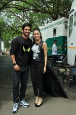 Shraddha Kapoor, Sushant Singh Rajput spotted at the promotion of film Chhichhore in filmcity on 18th Aug 2019