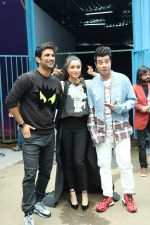 Shraddha Kapoor, Sushant Singh Rajput, Varun Sharma spotted at the promotion of film Chhichhore in filmcity on 18th Aug 2019