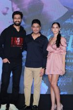 Vicky Kaushal, Nora Fatehi, Bhushan Kumar Celebrate The Success Of Single Song Pachtaoge on 27th Aug 2019 (5)_5d662556e5604.JPG