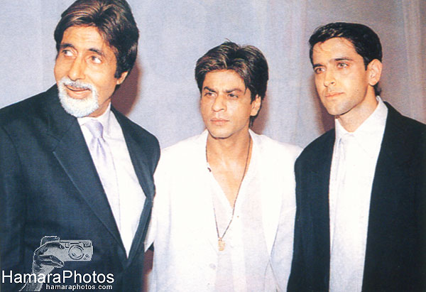 Hrithik with Srk and Amitabh
