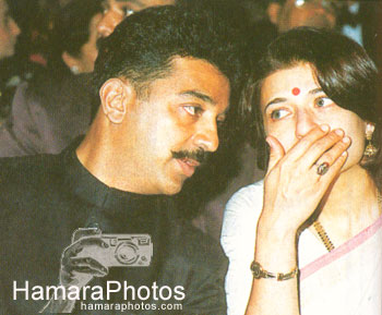 Kamal with wife Sarika