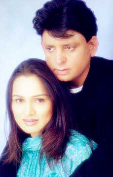 Padmini Kolhapure with husband Tutu Sharma