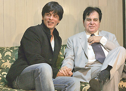 Shahrukh and Dilip Kumar at the music release
