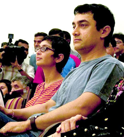 Aamir Khan with wife Kiran Rao