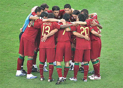 Portugal's players