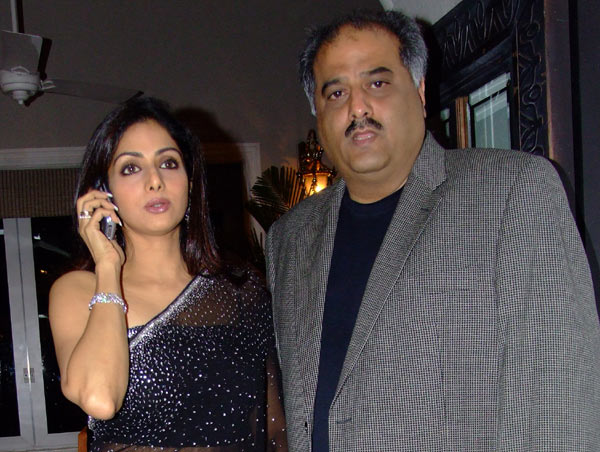 Sridevi with Husband Boney Kapoor