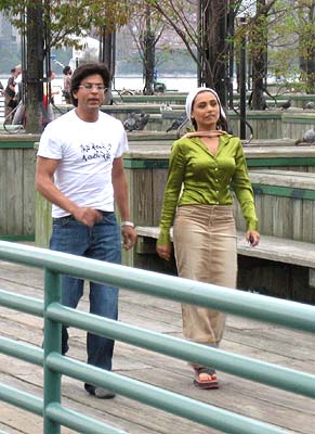 Shah Rukh Khan and Rani Mukherjee in US