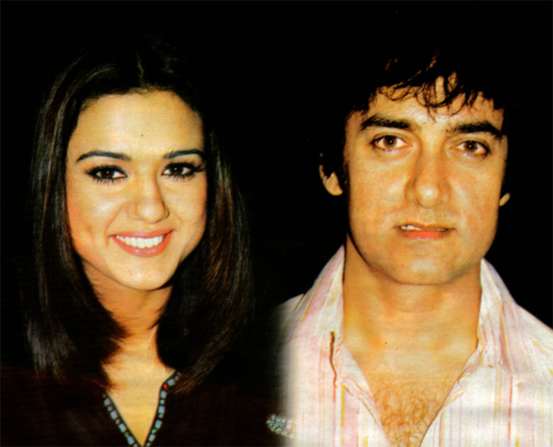 Aamir Khan with Priety Zinta