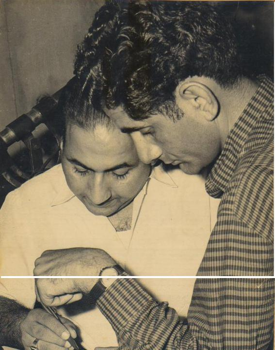 Rafi with Anand Bakshi