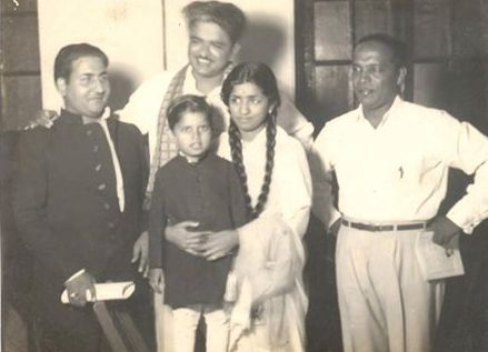 Mohd Rafi with C Ramchandra, Lata & Chic Choclate