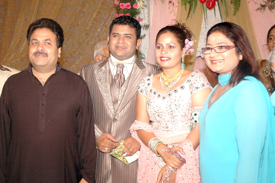 Deepak Chaudhry and Amrita Dhawan Ring Ceremony - Deepak Chaudhry and Amrita Dhawan with Rajeev Shukla along with his wife