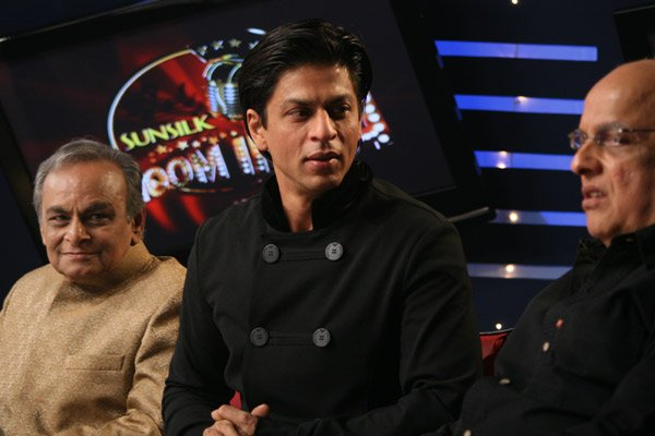 Anandji, Shahrukh Khan, Mahesh Bhatt at Jhoom India Reality Show