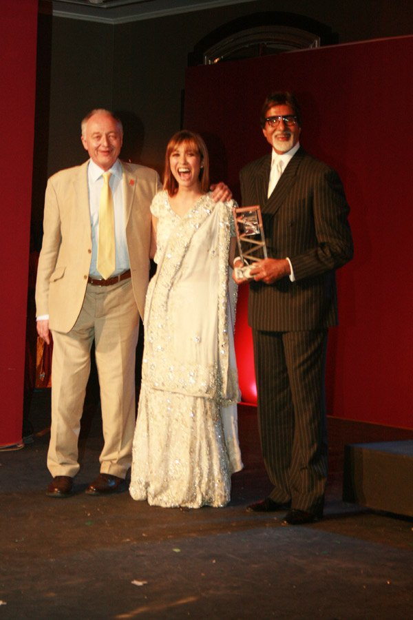 Ken Livingstone, Amitabh Bachchan at the London Mayor Ken's party