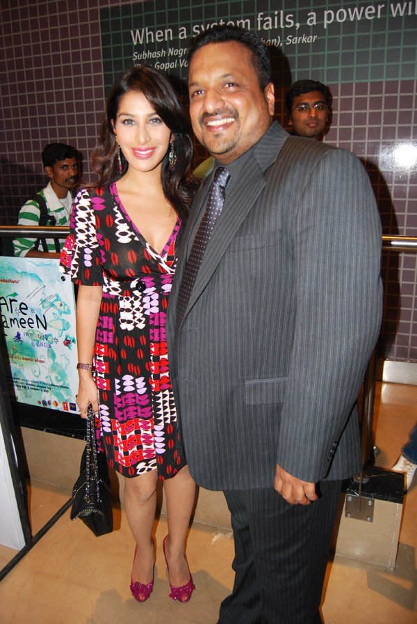 Sophie Chaudhary, Sanjay Gupta at the premiere of Dus Kahaniyaan