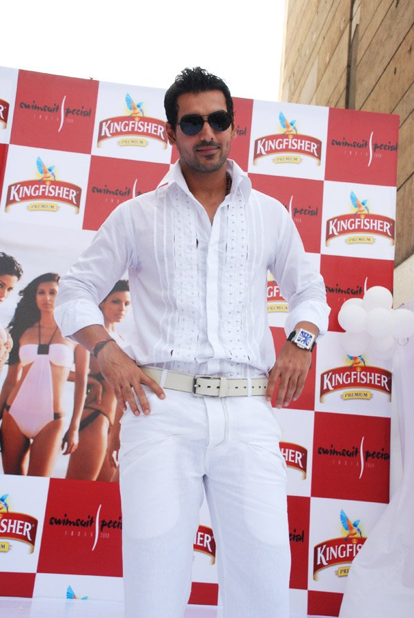 John Abraham at unveiling of Kingfisher Swimsuit Special 2008