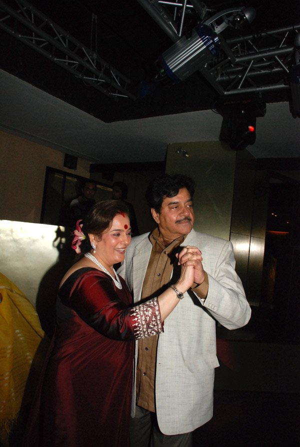 at Shatrughan Sinha's birthday party