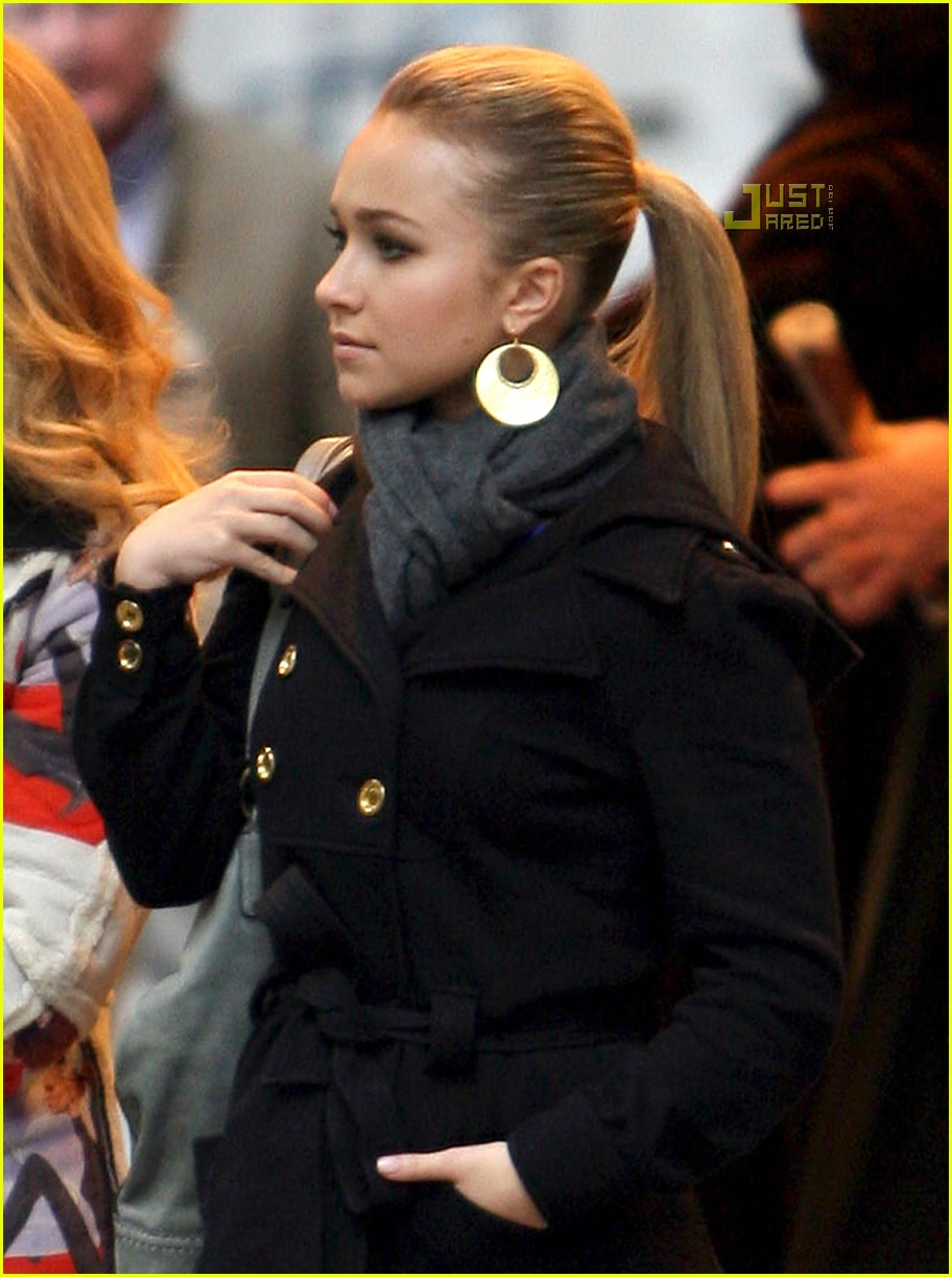 Hayden Panettiere - Wearing Thigh High Boots in NYC-5