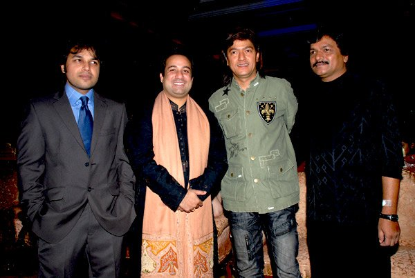 Rahat Fateh Ali Khan, Aadesh Shrivastav at Launch of Rahat Fateh Ali Khan's album Charkha