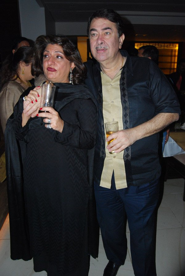 Randhir Kapoor at Pammi Bari's birthday party