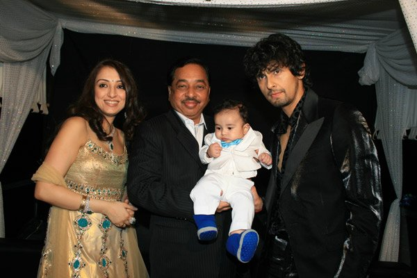 Narayan Rane, Sonu Nigam at Nevaan Nigam's Birthday Party