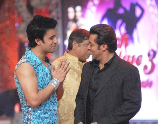 Aamir Ali Malik, David Dhawan, Salman Khan at Nach Baliye 3 Final