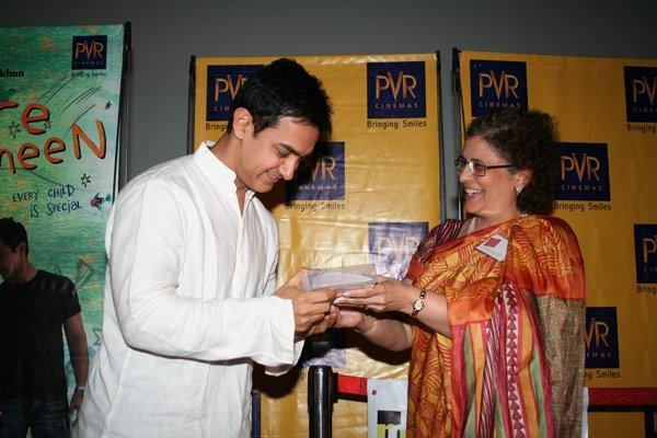 Aamir Khan at the screening of Taare Zameen Par for Kids