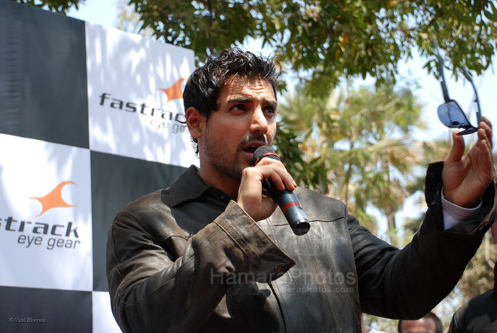 John Abraham at the Fasttrack Dirt Bike Promotional event in Goregaon on 29th Feb 2008