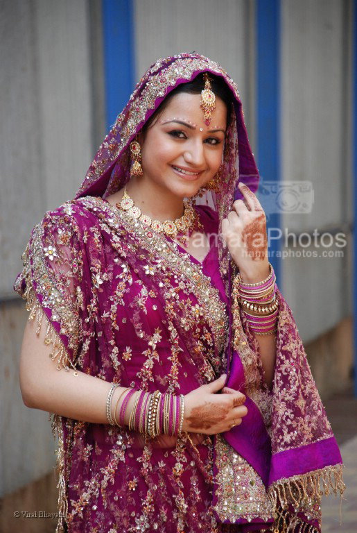 Muskaan Mehani at the location of Dahej Serial on 9X on March 13th