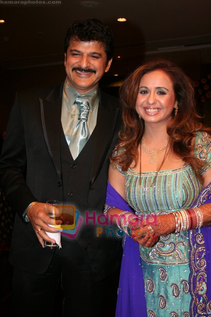Vandana Sajnani and Rajesh Khattar at Vandana Sajnani and Rajesh Khattar's wedding reception in BJN Hall on May 5th 2008