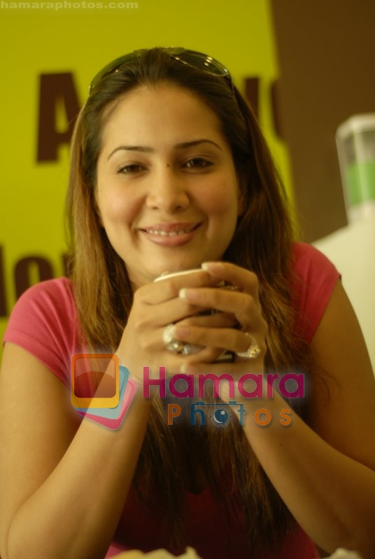 Kim Sharma at Falafel and Hummus House in Lokhandwala on June 25th 2008