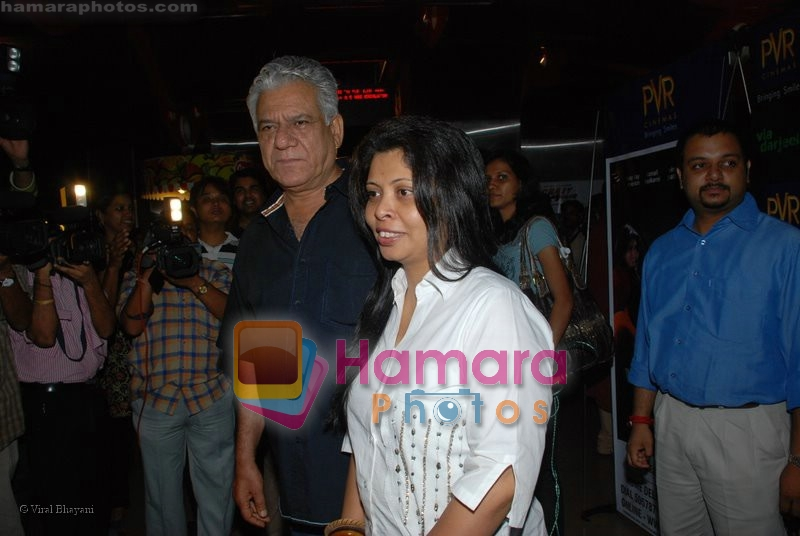 Om Puri at the Premiere of Via Darjeeling in  PVR on June 25th 2008 - Copy