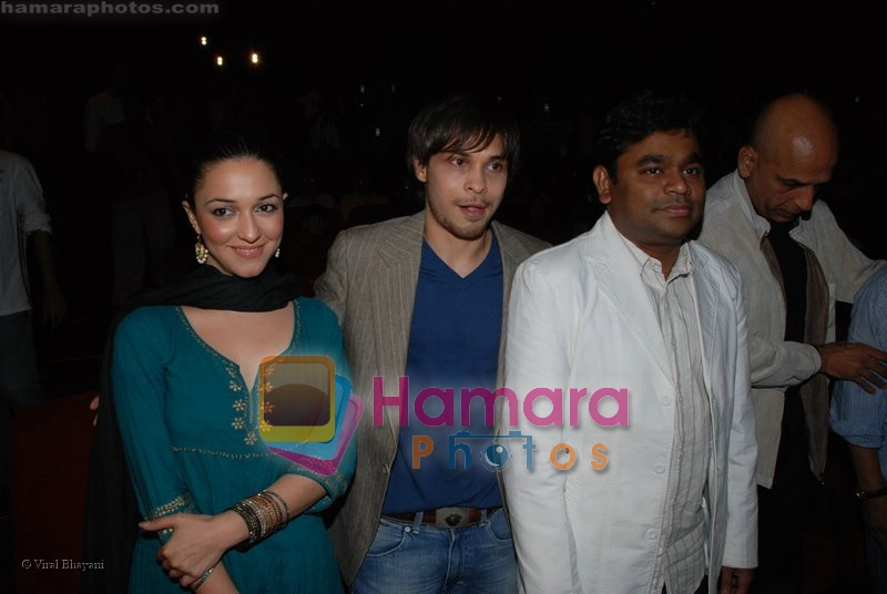 Ayaan Ahmad, Nauheed Cyrusi, A R Rahman at Ada music launch in PVR on June 25th 2008