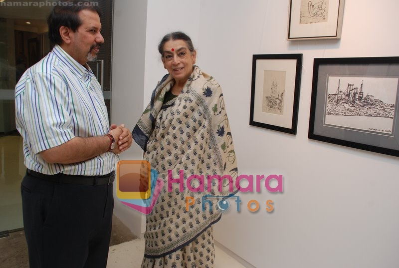 at World Renowned Artist Jogen Chowdhury's Art Exhibition in Kala Ghoda on 27th June 2008