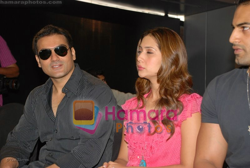 Arbaaz Khan, Kim Sharma, Upen Patel at the launch of Porsche first mobile phone in Kemps Corner on June 27th 2008