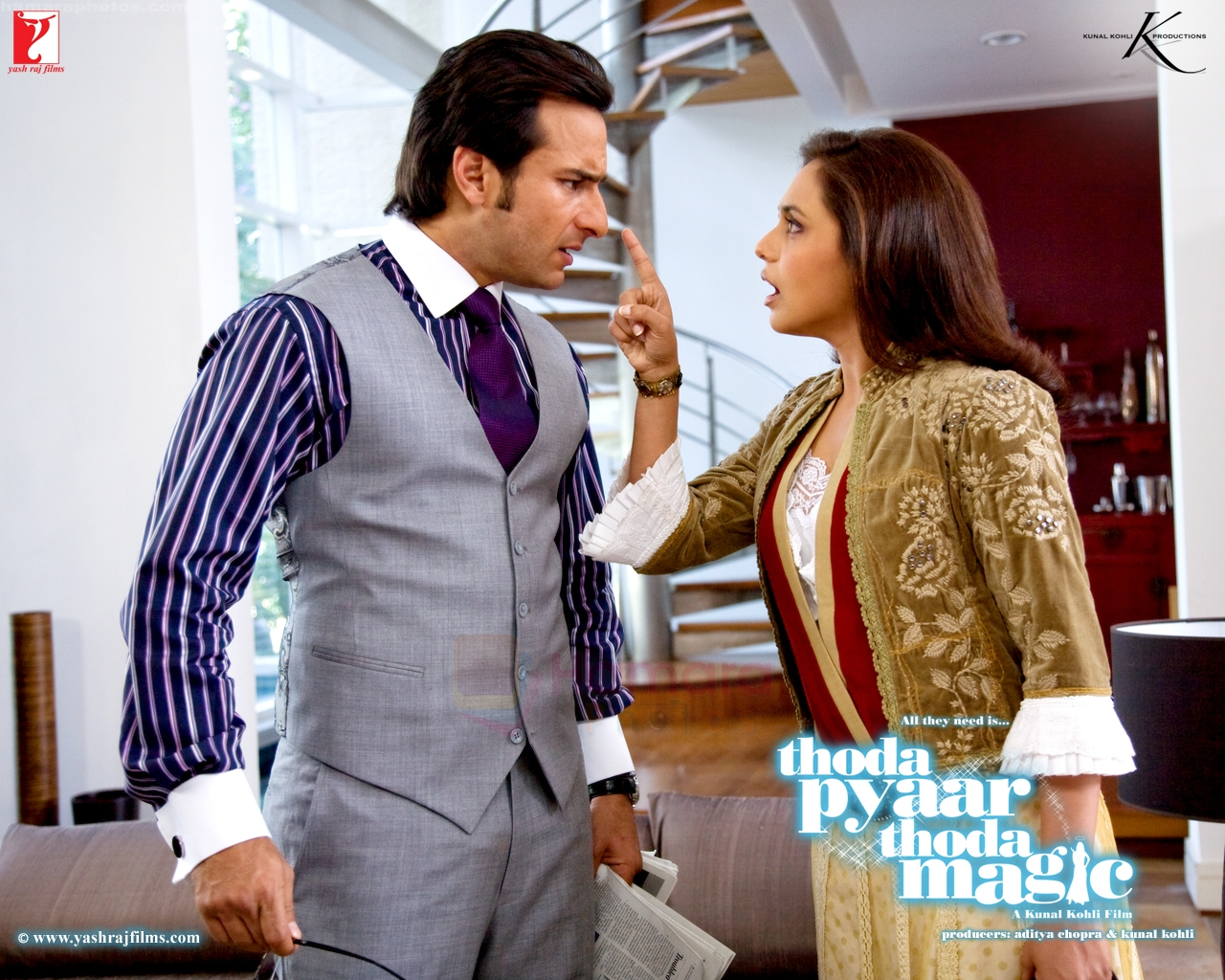 Saif Ali Khan, Rani Mukherjee Thoda Pyaar Thoda Magic Wallpaper
