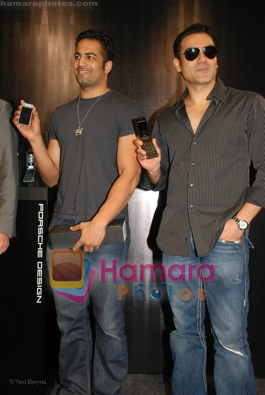 Arbaaz Khan, Upen Patel at the launch of Porsche first mobile phone in Kemps Corner on June 27th 2008