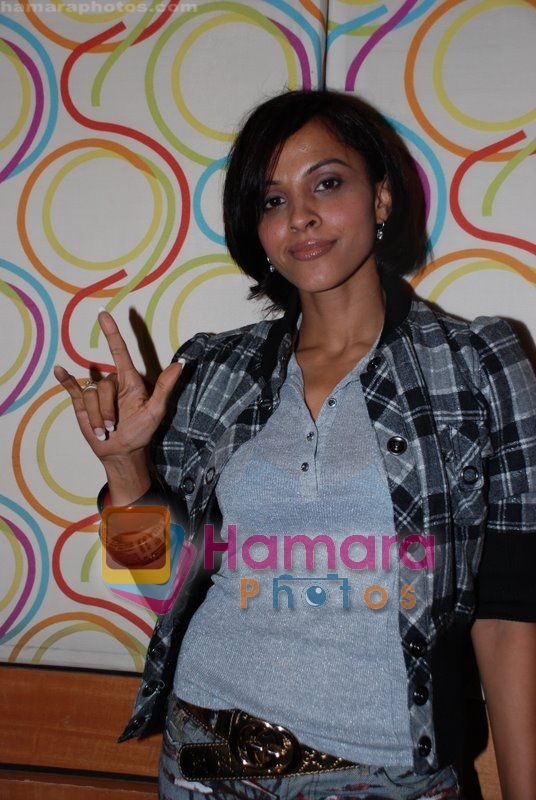 Mansi Scott at the recording of Mansi Scott's debut album with Mika Singh at MEET Brothers recording studio on 27th June 2008