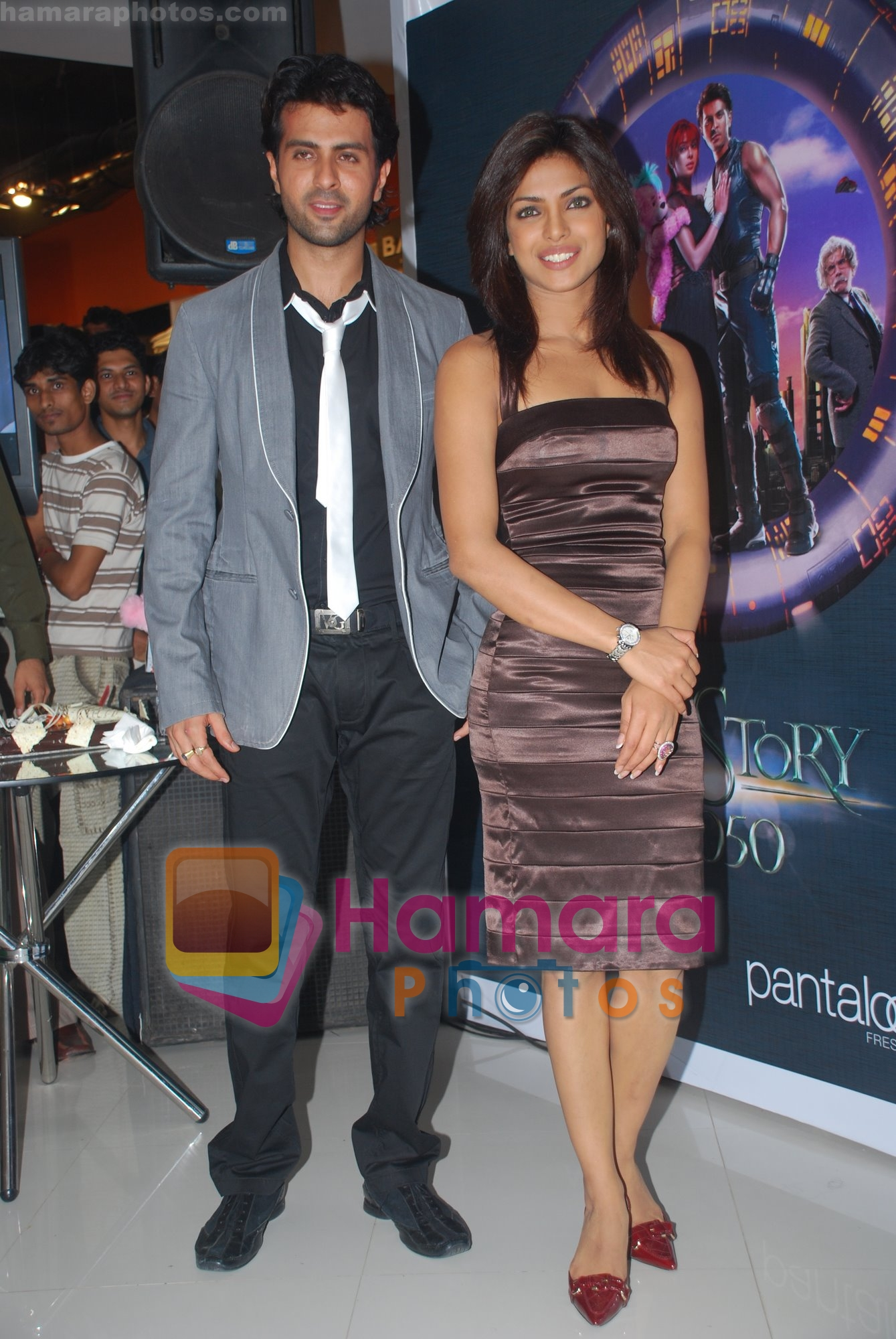 Harry Baweja, Priyanka Chopra at the Pantaloons Promotional Event for Love Story 2050 on June 28th 2008