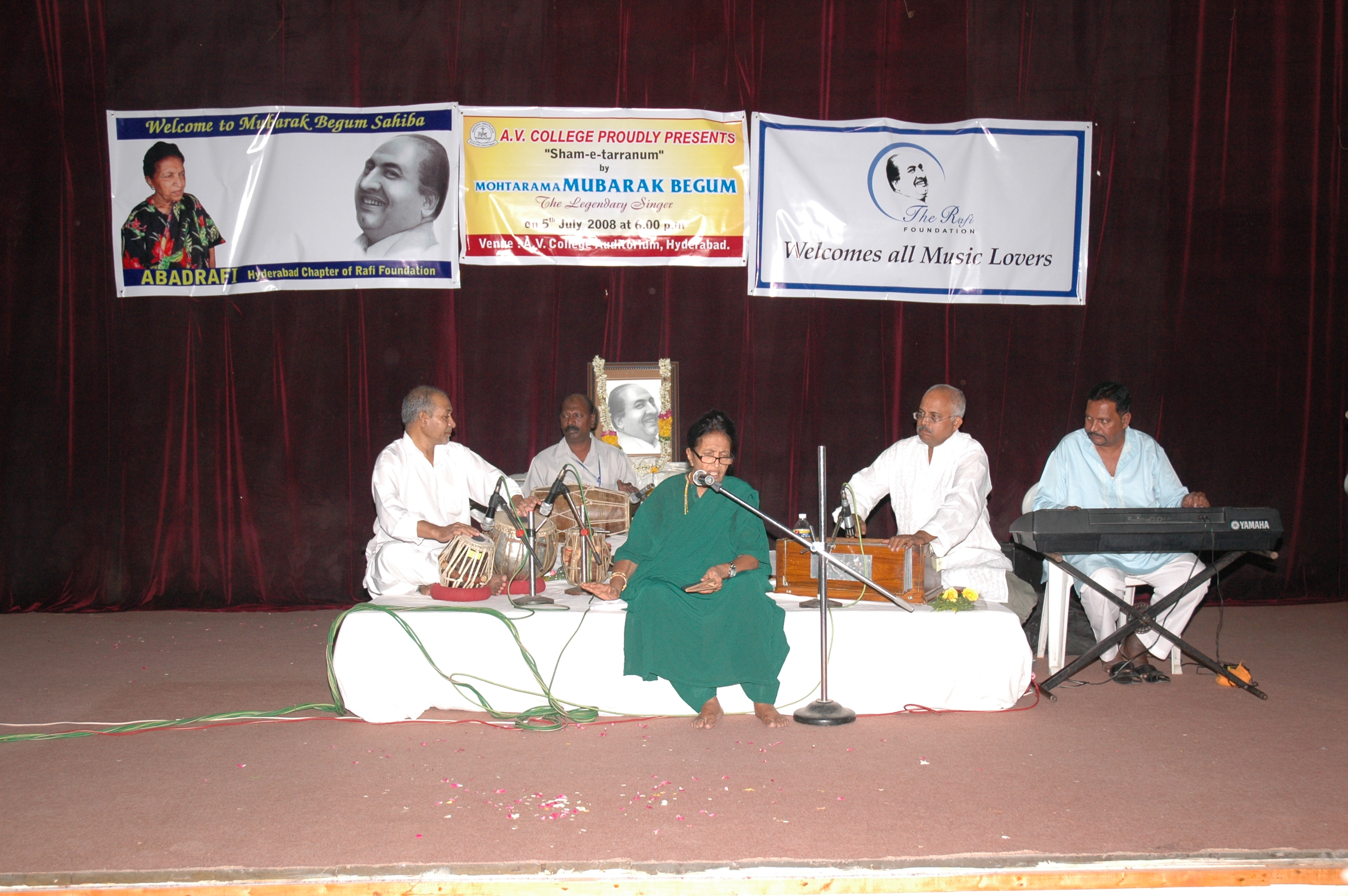 Mubarak Begum Sahiba at her vocal best, rendering songs for a musically learned audience