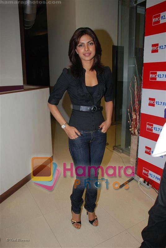 Priyanka Chopra at the studios of BIG 92.7 FM on July 23, 2008