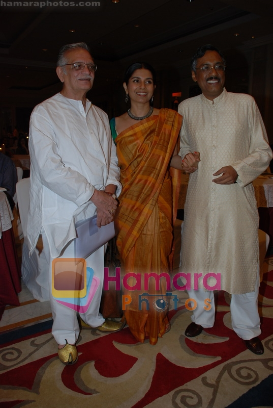 Mita Vashist, Gulzar at Selective poems book launch by Gulzar in ITC Grand Maratha on July 26th 2008
