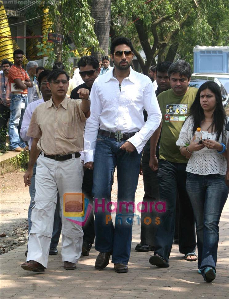 Abhishek Bachchan At Big Boss House In Big Boss House