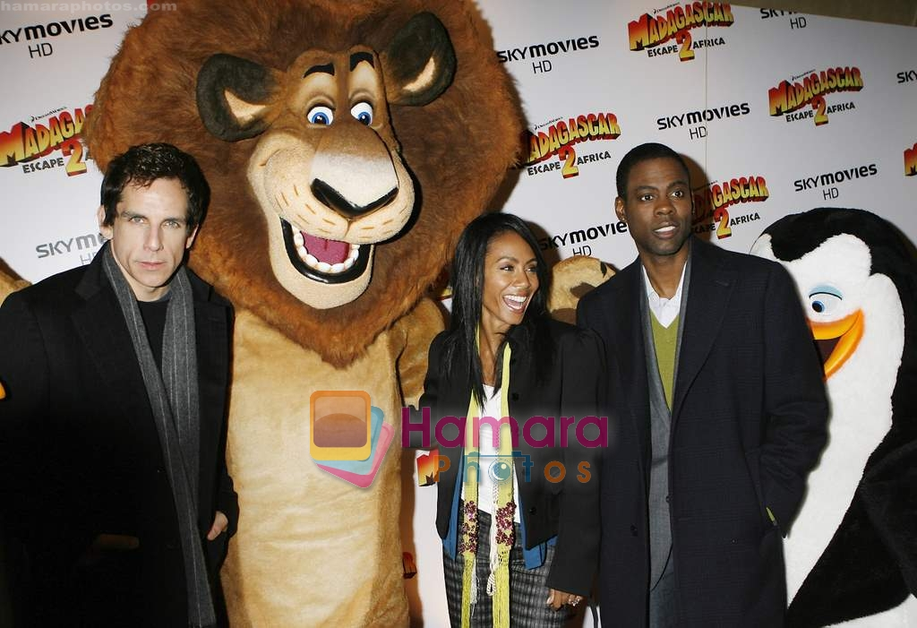 Ben Stiller, Chris Rock and Jada Pinkett Smith at Madagascar